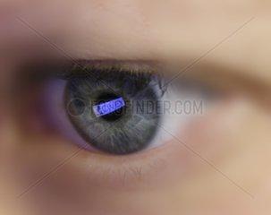Auge betrachtet Logo von Civey