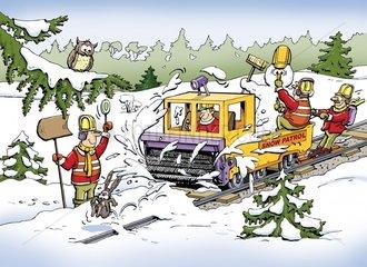 Serie Gleisbau Schneeraeumung