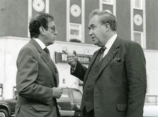 Intendant Albert Scharf  Fernsehdirektor Wolf Feller  Bayerischer Rundfunk  1990