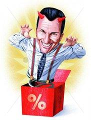 Kastenteufel Ueberraschung Zinsen