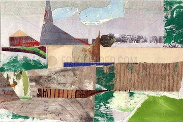 Landschaft Collage