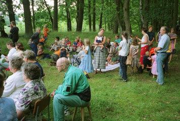 Nach oekumenischen Waldgottesdienst in Brandenburg