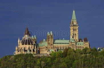 Ottawa  die Hauptstadt Kanadas  das Regierungsgebaeude steht auf dem Parliament Hill  Ottawa- Kanada