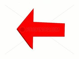 Roter Pfeil Wirbel Weiss