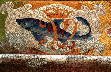 Jugendstil-Mosaik in Barcelona