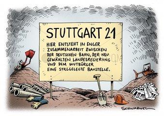 Stuttgart 21 Stop Bauarbeiten Konsolidierung Landesregierung