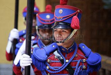Soldaten der peruanischen Ehrengarde