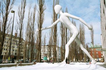 Walking Man von Jonathan Borofsky in Muenchen