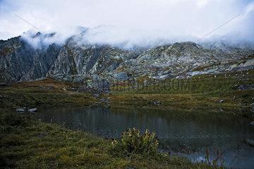 kleiner Bergsee am St. Gotthard