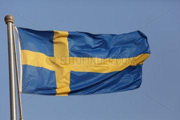 Doha  Katar  Nationalfahne von Schweden