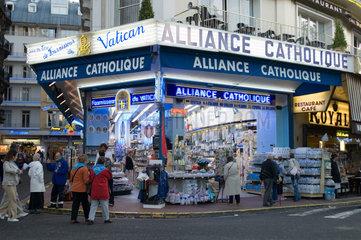 Innenstadt von Lourdes  Frankreich
