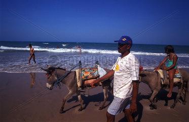 Strandszene an der brasilianischen Kueste