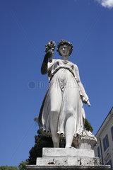 Goettin auf Piazza del Popolo im Rom