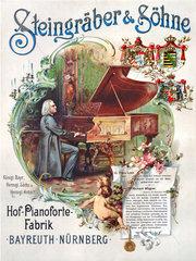 Steingraeber & Soehne  Klavierbau  Werbeplakat 1895