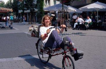 Radfahren  Sommer in der Stadt