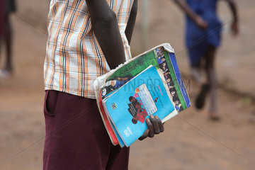 Adjumani  Uganda - Ansiedlungsprogramm der ugandischen Regierung fuer Fluechtlinge aus dem Sued-Sudan.