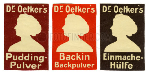 Dr. Oetkers Reklamemarken  1913