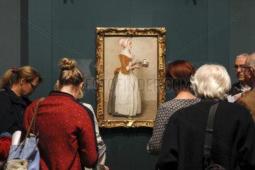 Ausstellung Das schoenste Pastell  das man je gesehen hat. Das Schokoladenmaedchen von Jean-Etienne Liotard   Gemaeldegalerie Alte Meister  Staatliche Kunstsammlungen Dresden