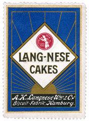 Langnese Cakes  historische Werbemarke  1912