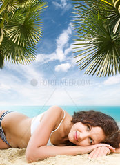Beautiful brunette on vacation