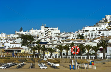 Hotelanlagen hinter dem Strand  Praia da Luz  Luz  Algarve  Portugal
