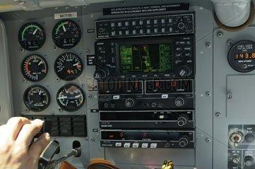 Cockpit eines Scenic Air Pilatus PC 6 B2 H4 Turbo Porter HB FLG  Baujahr 1994