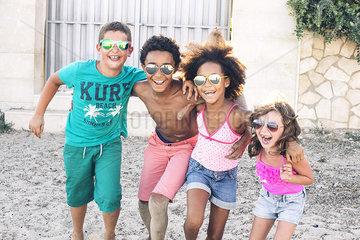 Children enjoying summer