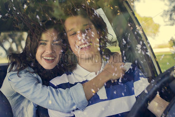 Couple going on road trip together