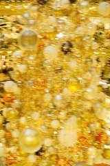 Blurred Christmas decorations  full frame