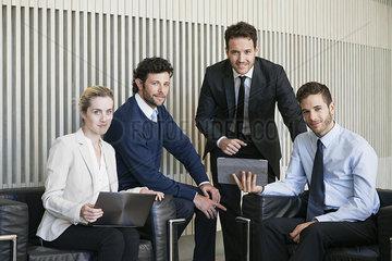 Business team members  portrait