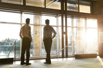 Business professionals contemplating start-up potential