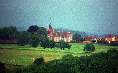 Blick auf ein Landgut  Loire  Frankreich