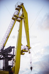 Crane at construction site