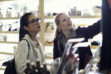 Women shopping together