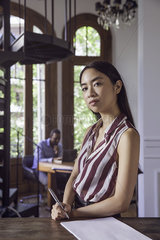 Young woman in office  portrait