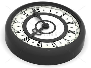 Clock. eight o'clock. 3d