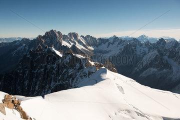 Snow-capped mountain landscape