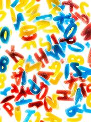 Buchstaben Streudekor
