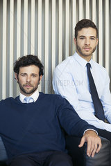 Business associates  portrait