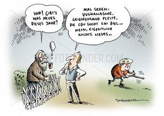Vulkanasche  Griechenland und die Zielsuche der CDU