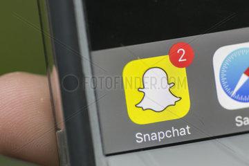 Snapchat auf einem Smartphone