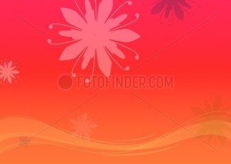 Abstrakter Background wallpaper floral rot orange