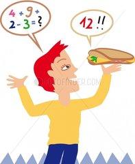 Pausenbrot Lernen Mathematik Rechnen Kind