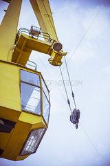 Crane operators control booth
