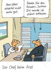 Chef beim Arzt
