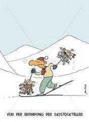 Skistockteller