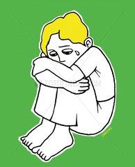 trauriges Kind Missbrauch