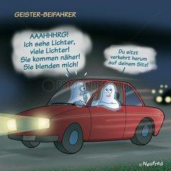 Geisterfahrer Beifahrer Auto Wagen Verkehr