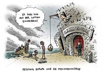 Fluechtlingsdrama Zustaende in Lampedusa menschenunwuerdig