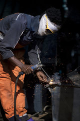 Eritrea - Portrait-Series: Welders with DIY face shields
